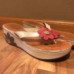 COACH- vintage floral sandals